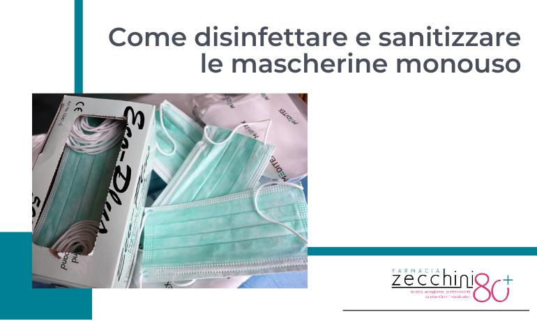 Come disinfettare e sanitizzare le mascherine monouso